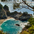 Julia Pfeiffer State Park Falls by Connie Cooper-Edwards