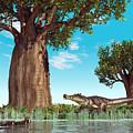 Kaprosuchus Crocodyliforms by Walter Myers