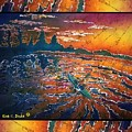 Kayaking Serenity - Bordered by Sue Duda