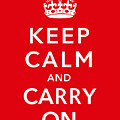 Keep Calm And Carry On by War Is Hell Store