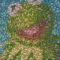 Kermit Mt. Dew Bottle Cap Mosaic by Paul Van Scott