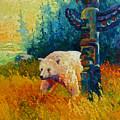 Kindred Spirits - Kermode Spirit Bear by Marion Rose