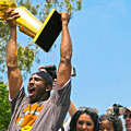 Kobe And The Trophy by Carl Jackson
