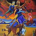 Kobe Defeating The Demons by Luis Antonio Vargas