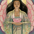 Kuan Yin Pink Lotus Heart by Sue Halstenberg