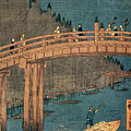 Kyoto Bridge By Moonlight by Hiroshige