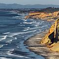 La Jolla Cliffs Over Blacks by Russ Harris