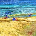 La Jolla Surfing by Marilyn Sholin