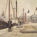 La Maria At Honfleur by Georges Pierre Seurat