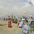La Plage De Trouville by Paul Rossert