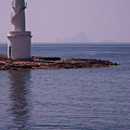 La Sabina Lighthouse Formentera And The Island Of Es Vedra by John Edwards