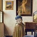 Lady Standing At The Virginal by Jan Vermeer