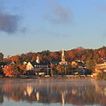 Lake Winnipesaukee Meredith Autumn Morning by John Burk