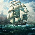 'land Ho' Cutty Sark by Colin Parker