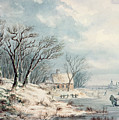 Landscape In Winter by JJ Verreyt