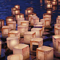 Lantern Floating Ceremony by Brandon Tabiolo - Printscapes