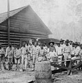 Large Group Of African American Men by Everett