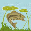 Largemouth Bass Fish Swimming Underwater  by Aloysius Patrimonio