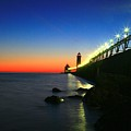 Last Light Grand Haven Michigan by Robert Pearson