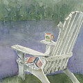 Lawn Chair By The Lake by Arline Wagner