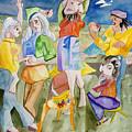 Les Demoiselles Of Santa Cruz V3 by Susan Cafarelli Burke