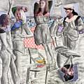 Les Demoiselles Of Santa Cruz V8 by Susan Cafarelli Burke