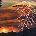 Lightning At Sunset by Tanna Lee M Wells