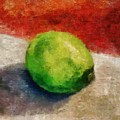 Lime Still Life by Michelle Calkins
