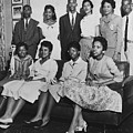 Little Rock Nine And Daisy Bates Posed by Everett