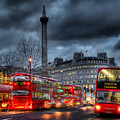 London Red Buses by Jasna Buncic