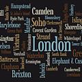 London Text Map by Michael Tompsett