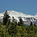 Lonely As God And White As A Winter Moon - Mount Shasta California by Christine Till