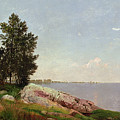 Long Island Sound At Darien by John Frederick Kensett