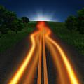 Long Road In Twilight by Setsiri Silapasuwanchai