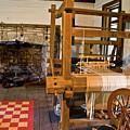 Loom And Fireplace In Settlers Cabin by Douglas Barnett