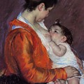 Louise Nursing Her Child by Marry Cassatt