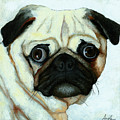 Love At First Sight - Pug by Linda Apple