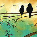 Love Birds By Madart by Megan Duncanson