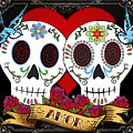 Love Skulls II by Tammy Wetzel