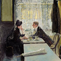 Lovers In A Cafe by Gotthardt Johann Kuehl