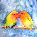 Lovey Dovey Lovebirds by Arline Wagner