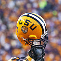 Lsu Helmet Raised High by Louisiana State University