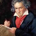 Ludwig Van Beethoven Composing His Missa Solemnis by Joseph Carl Stieler