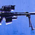 M82 Sniper Rifle On Blue by Michael Tompsett