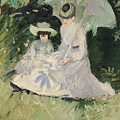 Madame Helleu And Her Daughter At The Chateau Of Boudran by Paul Cesar Helleu