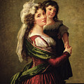 Madame Rousseau And Her Daughter by Elisabeth Louise Vigee Lebrun