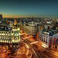 Madrid Cityscape by Photo by cuellar