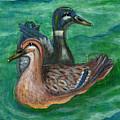 Mallard Ducks by Anna Folkartanna Maciejewska-Dyba