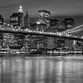 Manhattan Night Skyline Iv by Clarence Holmes