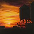 Manhattan Sunset by Christopher Oakley